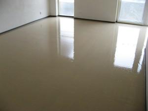 Zatížení lité podlahy